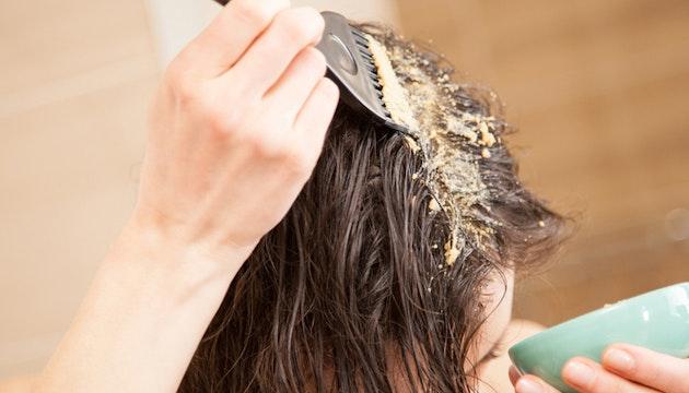 Argilla sui capelli